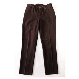 CHICO'S 1 Chocolate Brown Straight Leg Pants M